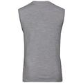 SUW TOP NATURAL 100 % MERINO WARM Unterhemd mit Rundhalsausschnitt, grey melange - black, large