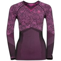 Shirt l/s crew neck Blackcomb EVOLUTION WARM, black - pink glo, large
