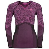 Shirt l/s crew neck Blackcomb EVOLUTION WARM, black - pink glo, large