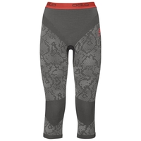 Pants 3/4 Blackcomb EVOLUTION WARM, black - odlo concrete grey - hot coral, large