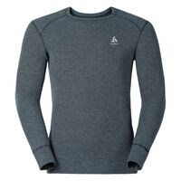 Shirt met ronde hals l/m active originals Warm, grey melange, large