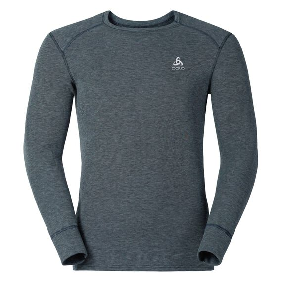 Shirt l/s crew neck ACTIVE ORIGINALS Warm, grey melange, large