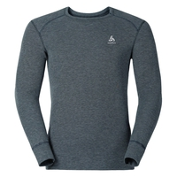 Active Originals Warm langärmeliges Shirt mit Rundhalsausschnitt, grey melange, large