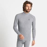 Men's ACTIVE WARM ECO Turtleneck Base Layer Top, grey melange, large