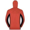 Hoody midlayer full zip SAIKAI, fiery red - diving navy, large