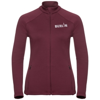 Midlayer full zip SNOWBIRD CITY PROGRAM, zinfandel Berlin, large