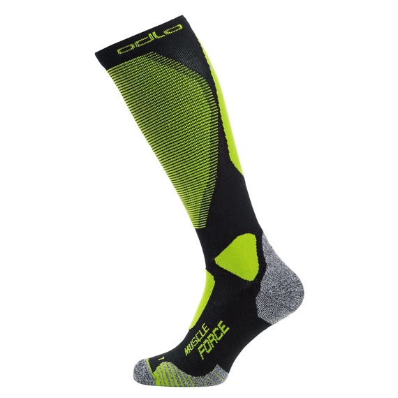 MUSCLE FORCE CERAMIWARM WARM PRO Over-the-Calf Socks, black - safety yellow, large