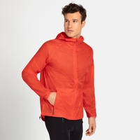 Men's FLI DUAL DRY WATER RESISTANT Hiking Jacket, mandarin red, large