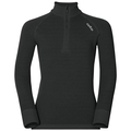 ACTIVE WARM KIDS 1/2 Zip Turtle-Neck Base Layer Top, black, large