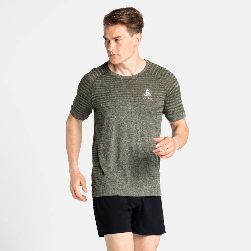 Herren ESSENTIAL SEAMLESS T-Shirt, deep depths melange, large