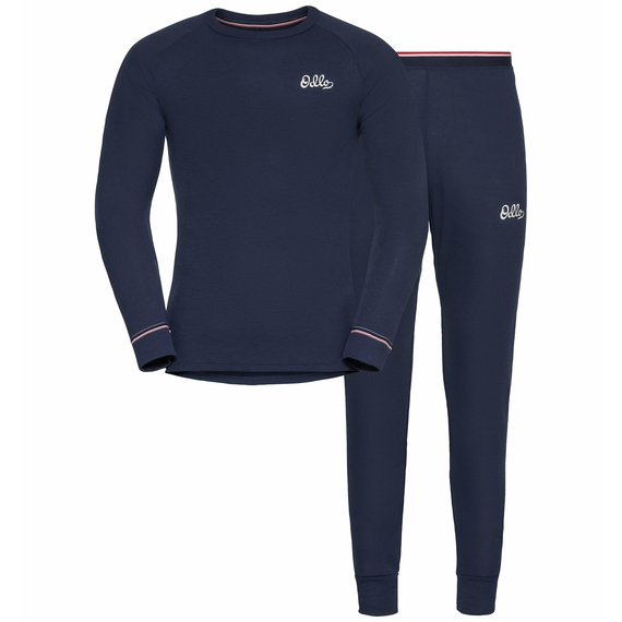 Set ACTIVE WARM Heritage, diving navy, large