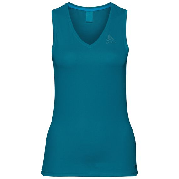 SUW TOP V-neck Singlet ACTIVE F-DRY LIGHT, crystal teal, large
