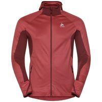 Sweat à capuche couche intermédiaire zippé BLAZE ZW CERAMIWARM, syrah - fiery red - stripes, large
