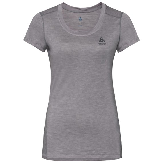 Women's NATURAL + LIGHT Base Layer T-Shirt, grey melange, large