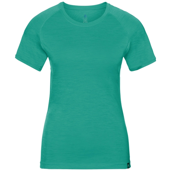 BL TOP Crew neck s/s KOYA CERAMIWOOL, pool green, large