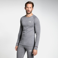 Men's ACTIVE WARM ORIGINALS Long-Sleeve Base Layer Top, grey melange, large