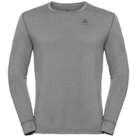 Men's NATURAL 100% MERINO WARM Long-Sleeve Base Layer Top, grey melange - grey melange, large