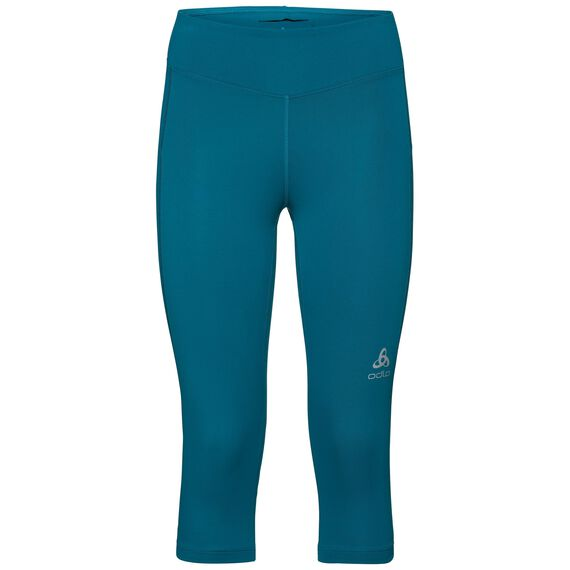 SLIQ running Tights 3/4 women, crystal teal, large