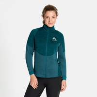 Women's MILLENNIUM YAKWARM Midlayer Top, submerged melange, large