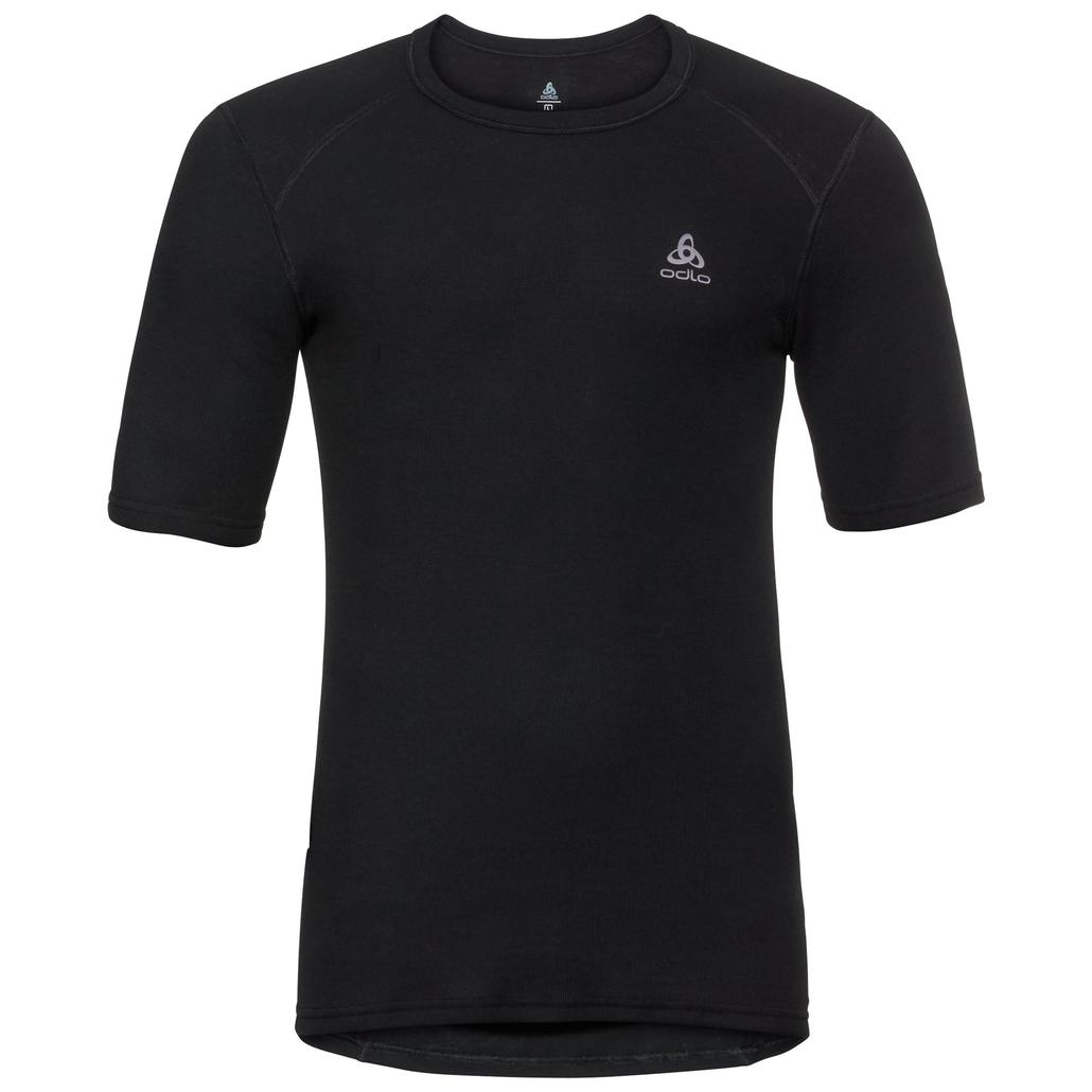 Men's ACTIVE WARM Base Layer T-Shirt, black, large