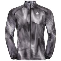 Herren OMNIUS LIGHT Jacke, odlo concrete grey - black - AOP FW18, large