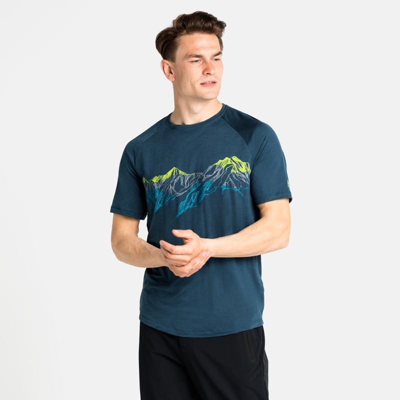 Concord Summit Print T-shirt, deep dive, large