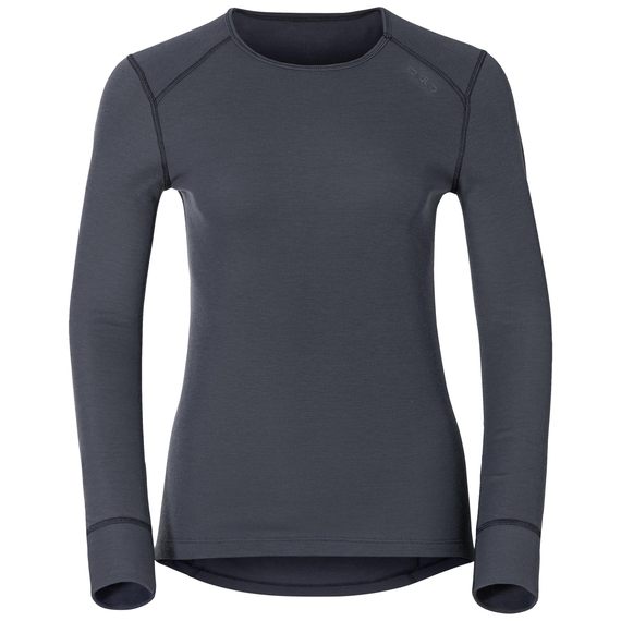 Women's ACTIVE WARM Long-Sleeve Base Layer Top, india ink, large