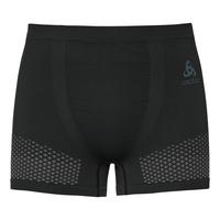 SUW Bottom Short ESSENTIALS seamless WARM, black - odlo concrete grey, large
