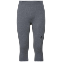 Men's PERFORMANCE WARM 3/4 Base Layer Pants, grey melange - black, large
