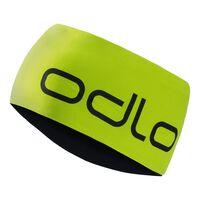 Headband Reversible, acid lime - black, large