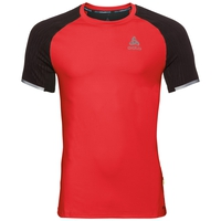 BL TOP Crew neck s/s ZEROWEIGHT Ceramicool, fiery red - black, large