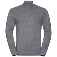 Midlayer 1/2 zip UNITY KINSHIP, grey melange, large