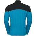 Couche intermédiaire 1/2 zip CORE LIGHT, blue jewel - black, large
