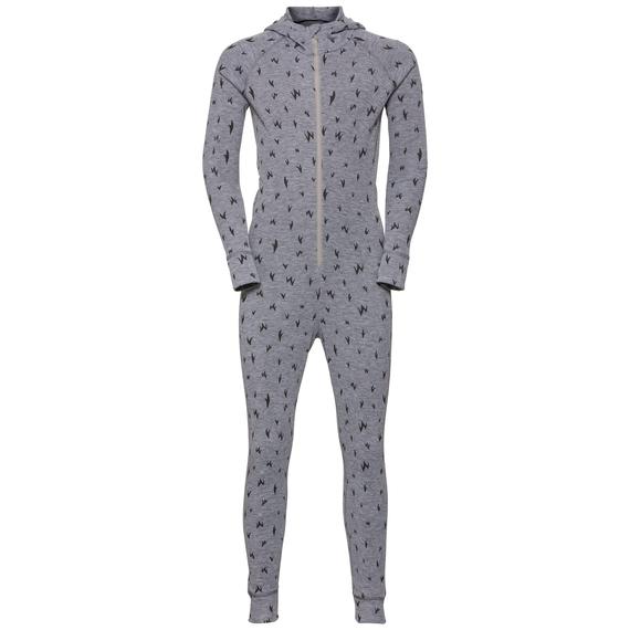 ACTIVE WARM KIDS One Piece Suit, grey melange - AOP FW19, large