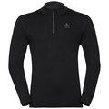 Men's NATURAL 100% MERINO WARM 1/2 Zip Turtle-Neck Base Layer Top, black - black, large