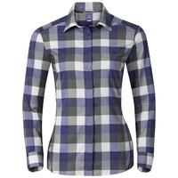 Camicia a manica lunga FAIRVIEW da donna, spectrum blue - white - odlo steel grey - check, large