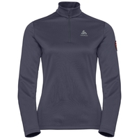 Midlayer con 1/2 zip PILLON da donna, odyssey gray, large