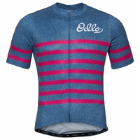 Men's ELEMENT Short-Sleeve Cycling Jersey, estate blue melange - beetroot purple, large