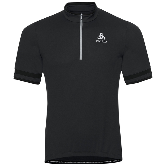 BREEZE cycling jersey men, black, large
