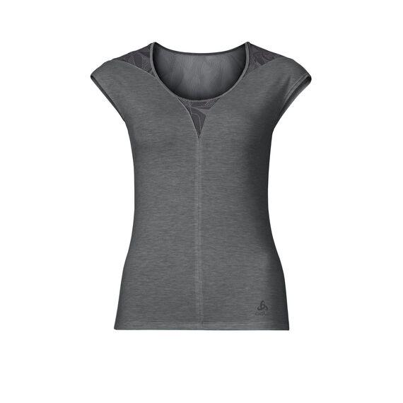 SUW Top Crew neck s/s Natural + X-Light, steel grey melange, large