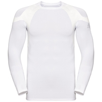 Men's ACTIVE SPINE LIGHT Long Sleeve Baselayer Top, white, large