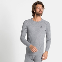 Herren ACTIVE WARM ECO Baselayer-Oberteil, grey melange, large