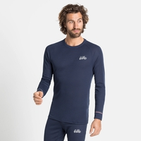 Men's ACTIVE WARM ORIGINALS ECO Long-Sleeve Baselayer Top, diving navy, large