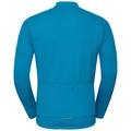 LOMBARDIA Warm langärmeliges Oberteil mit durchgehendem Reißverschluss und Stehkragen, blue jewel, large