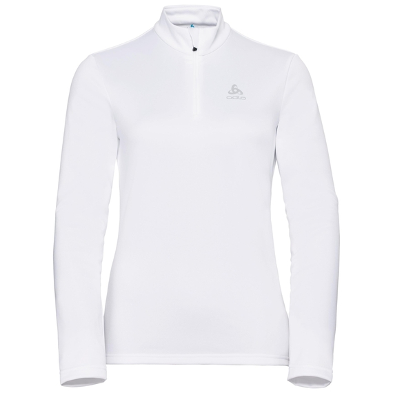 Midlayer 1/2 zip HARBIN, white, large