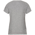 BL Top Crew neck s/s Core, grey melange - placed print FW18, large