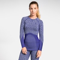 Maglia Base Layer a manica lunga BLACKCOMB da donna, clematis blue - tradewinds - clematis blue, large