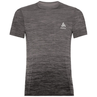 BL Top VIGOR SEAMLESS kurzärmeliges Oberteil mit Rundhalsausschnitt, odlo steel grey - black, large