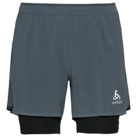 2-in-1 Shorts ZEROWEIGHT CERAMICOOL PRO, dark slate - black, large