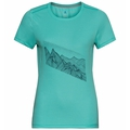 Damen F-DRY PRINT T-Shirt, jaded - graphic SS21, large